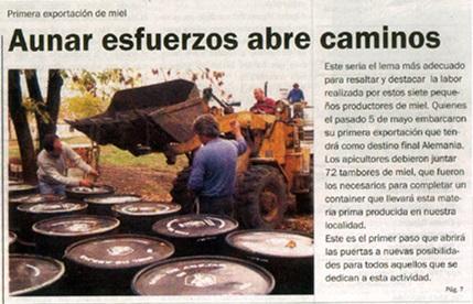 El día que Cerrito exportó miel