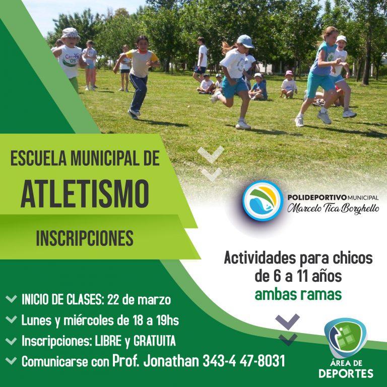 Mini Atletismo: inscripciones abiertas