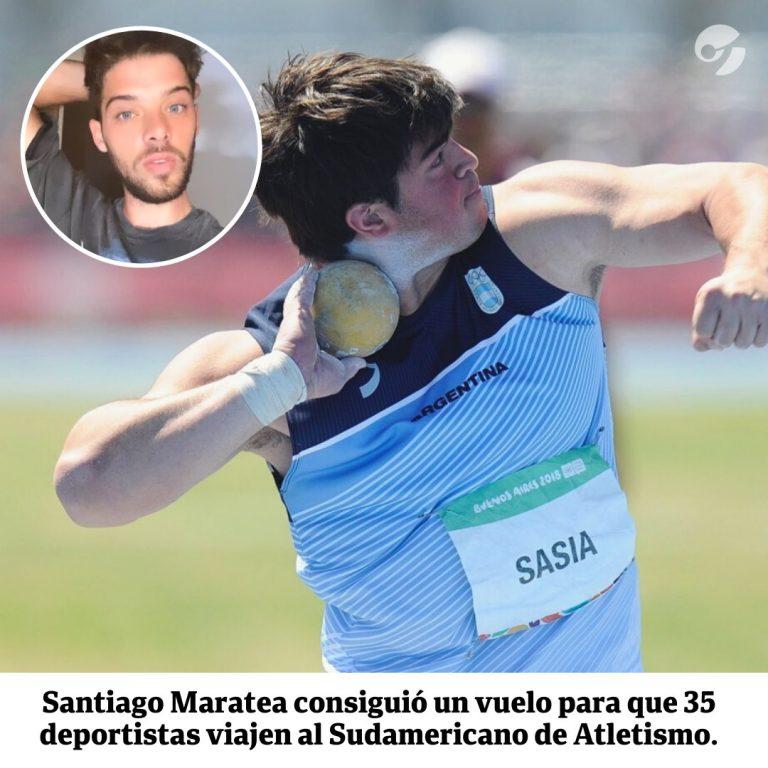 Santi Maratea consiguió el dinero para que atletas argentinos viajen a Ecuador