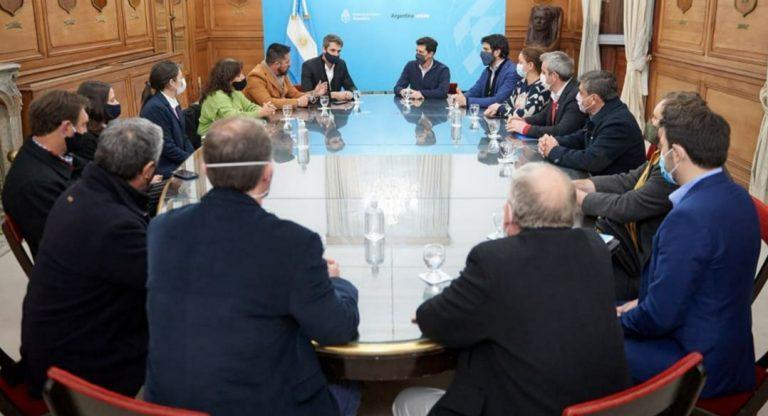 Palacios se reunió con funcionarios nacionales