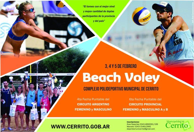 Cerrito se prepara para el torneo de Beach Voley