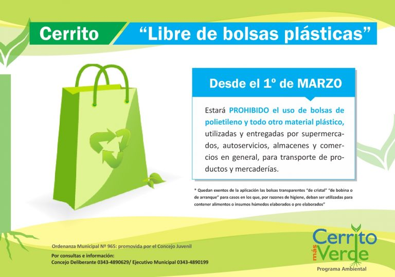 Cerrito libre de bolsas plásticas