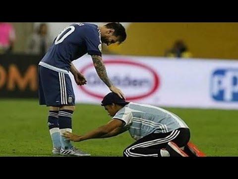 Ingresó al campo para abrazar a Messi, lo que no mostraron las cámaras