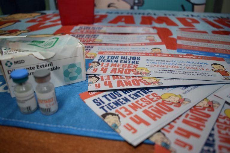 Se continuará aplicando la dosis contra el sarampión y la rubéola