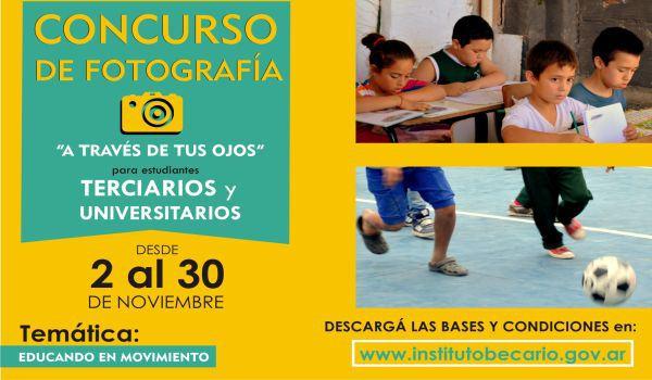 El Instituto Becario lanzó un concurso de fotografía