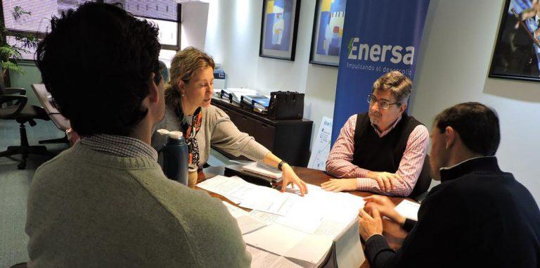 Reunión por la obra de gas natural