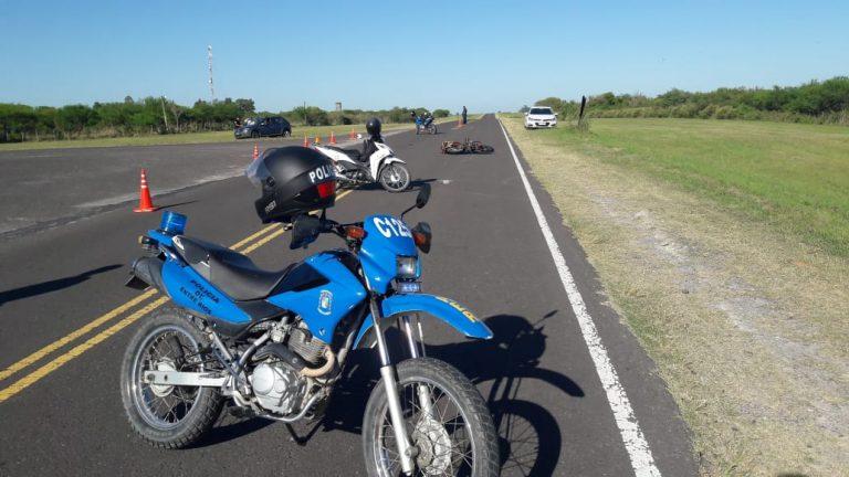 Accidente vial en el acceso a Cerrito