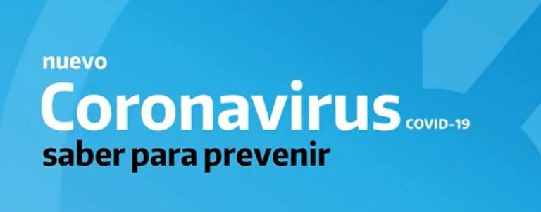 CORONAVIRUS: Información dictada por el Ministario de Salud