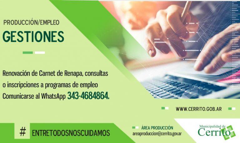 Información sobre el Área Producción y la Oficina de Empleo