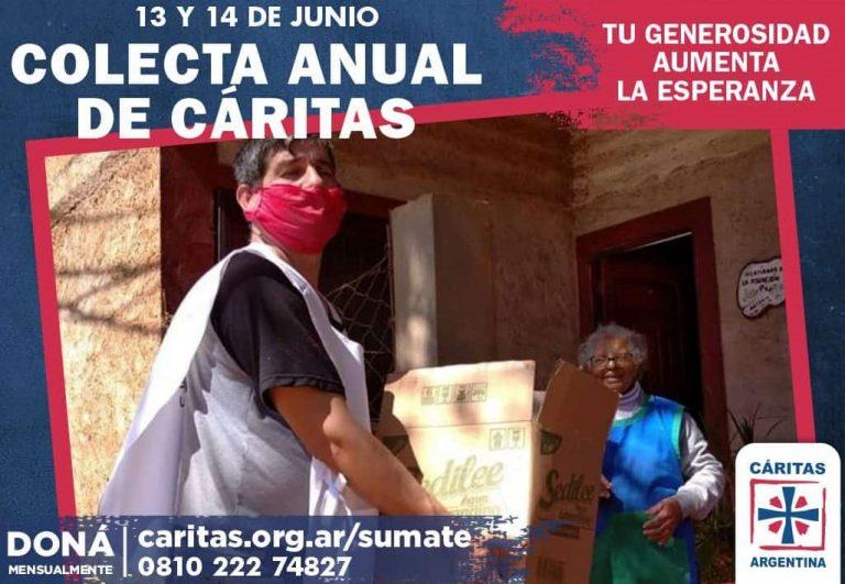 Del 13 al 14 de Junio se realiza la Colecta Anual Cáritas