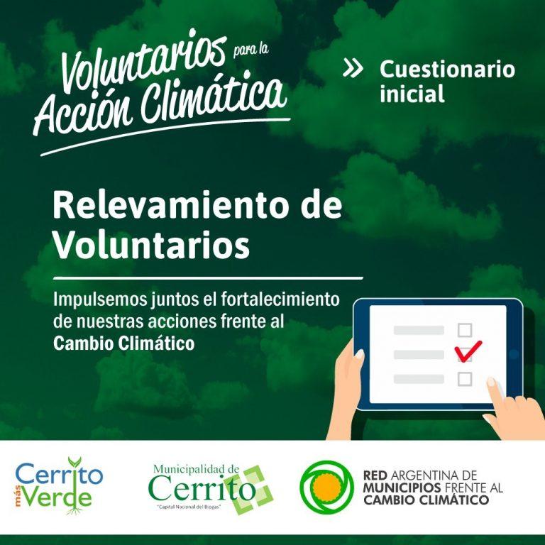 Convocatoria pública de voluntarios para la acción climática
