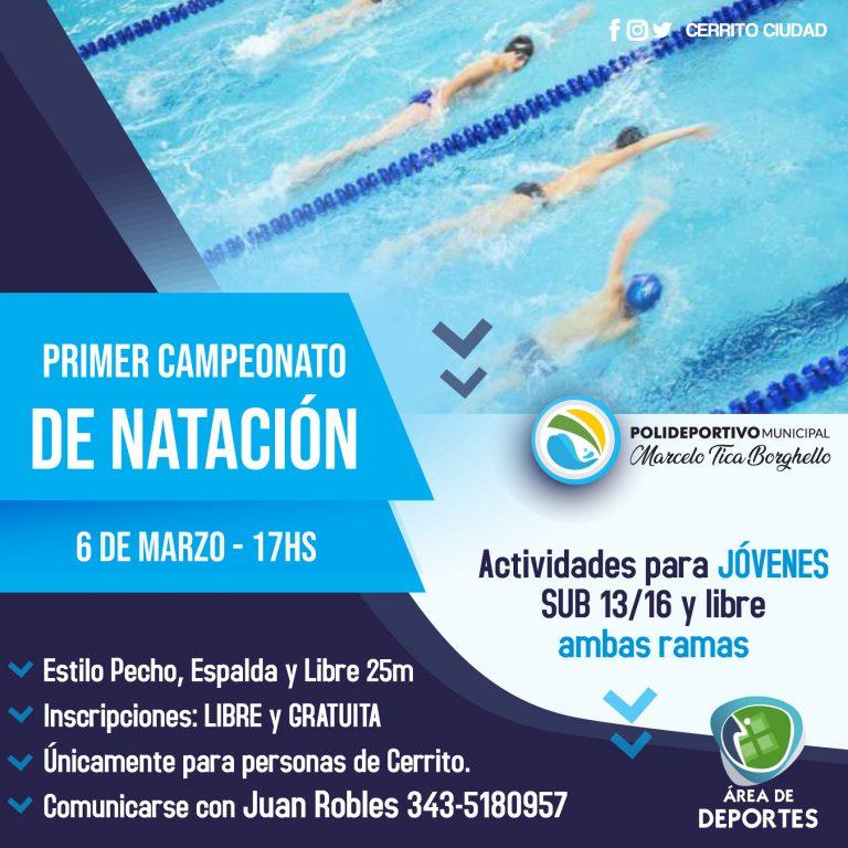Se viene el primer campeonato de natación