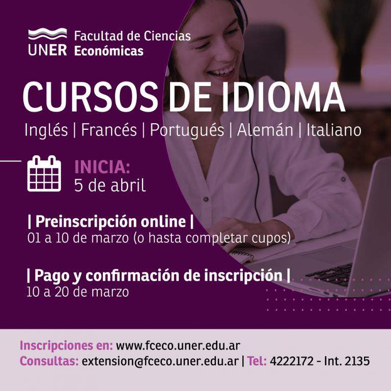 Cursos de idiomas en la Facultad de Ciencias Económicas