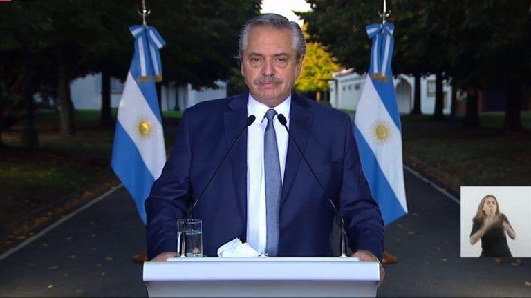El Presidente anunció nuevas medidas ante la segunda ola de coronavirus