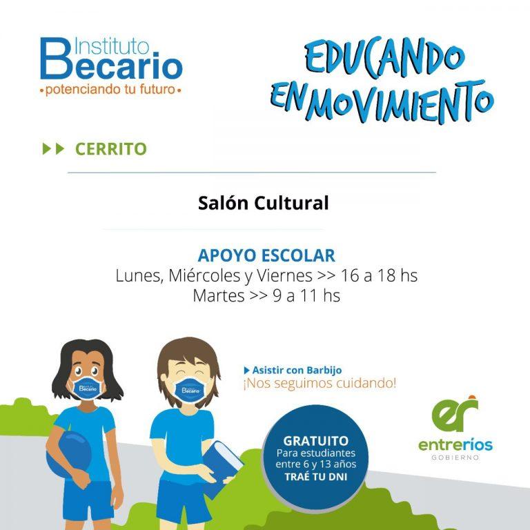 """Arranca en Cerrito el programa """"Educando en Movimiento"""""""