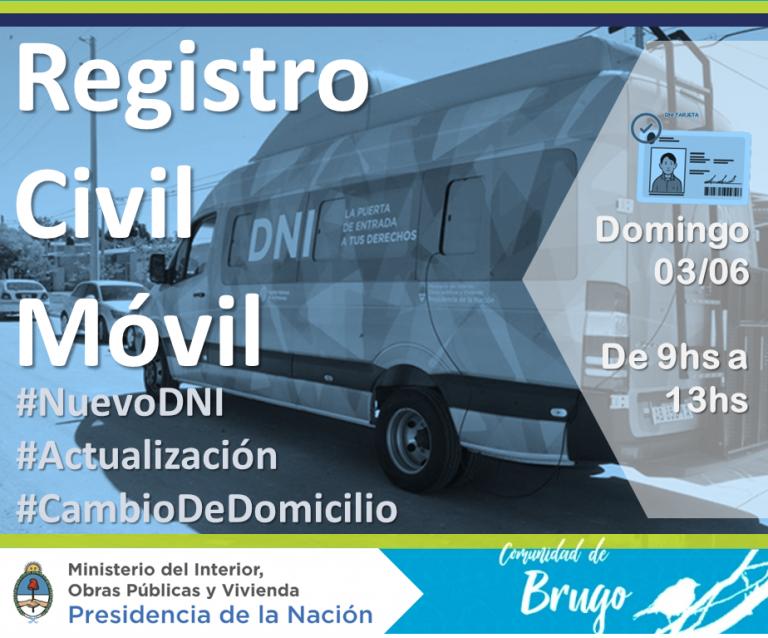 El registro civil móvil llega a Pueblo Brugo