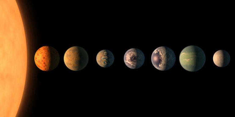 Astrónomos anuncian el hallazgo de un sistema estelar con 7 planetas similares a la Tierra