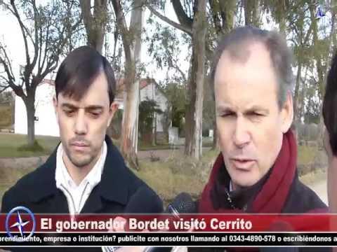 Brújula TV – El gobernador Gustavo Bordet visitó Cerrito